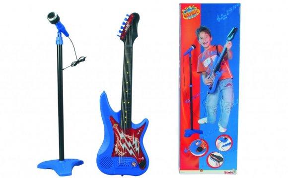 Гитара детская +микрофон