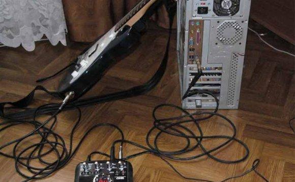 Подключение электрогитары к