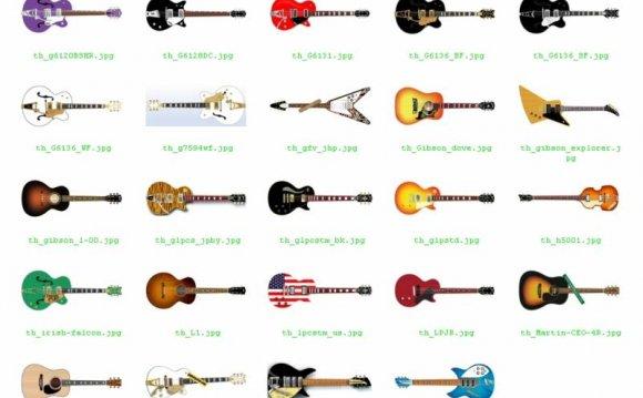 Набор гитар (35 штук) из